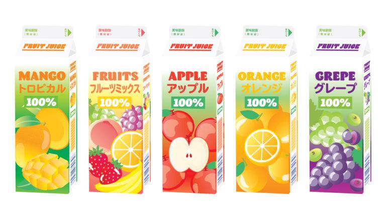 フルーツジュース各5種